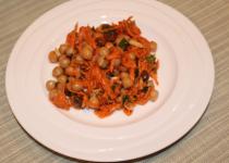 Ensalada de zanahorias y garbanzos